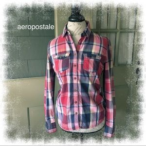 Aeropostale Button Up Flannel Shirt